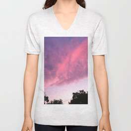 Color Bomb Sunset Unisex V-Neck
