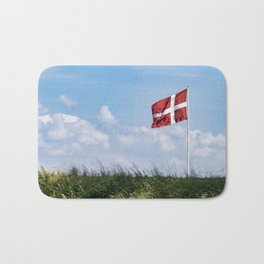 Dannebrog in the wind (Danish national flag) Bath Mat