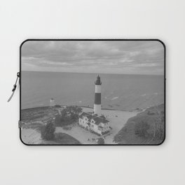 Black and White Lighthouse Laptop Sleeve