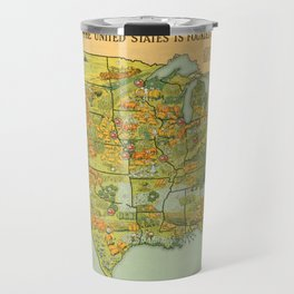 Vintage United States Agricultural Map (1922) Travel Mug
