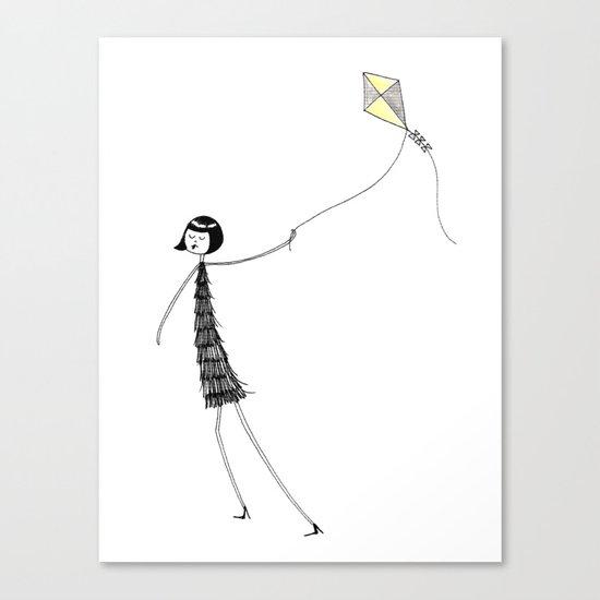 Let's go fly a kite Canvas Print