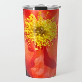 Orange Iceland Poppy Travel Mug