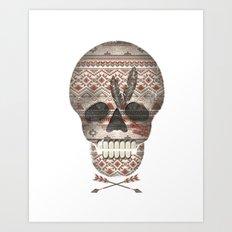 SKULL & ARROW  Art Print