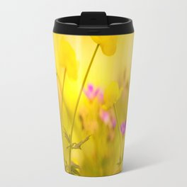 Wild flowers in the golden sunset shades Travel Mug
