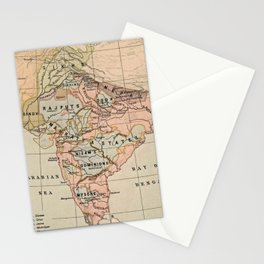 Vintage Map of India (1823) Stationery Cards