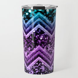 Unicorn Glitter Chevron #4 #shiny #decor #art #society6 Travel Mug