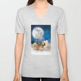 Good Night Moon Unisex V-Neck