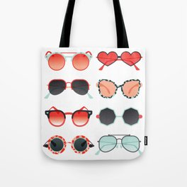 Sunglasses Collection – Red & Mint Palette Tote Bag