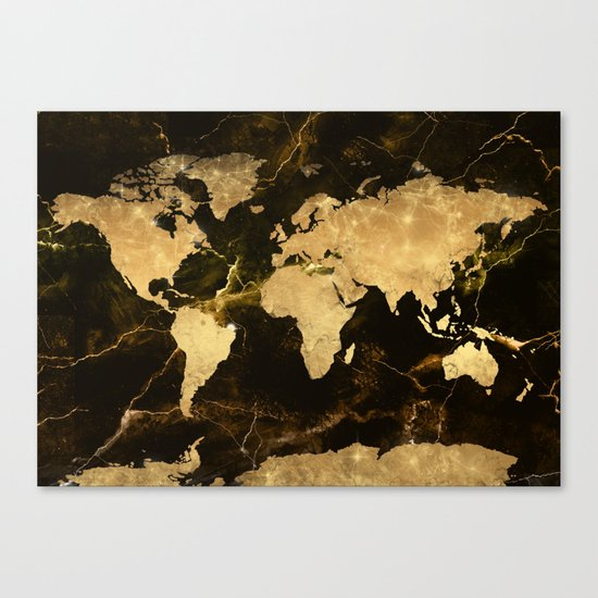 world map marble 5 Canvas Print