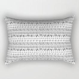 Black & White Hand Drawn Pattern Rectangular Pillow