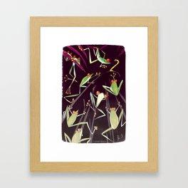 Froggy Jamboree or Inchworm Nightmare? Framed Art Print
