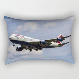 British Airways Boeing 747 Rectangular Pillow