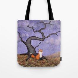 the rainy fox Tote Bag