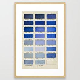 Plate IX (Blue) Framed Art Print