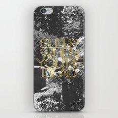 Sleep When You're Dead iPhone & iPod Skin