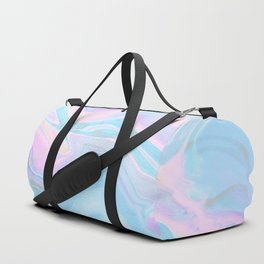 Sea Marble Candy Pattern - Violet, Aqua and Blue Duffle Bag