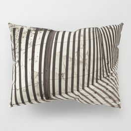 a fence in the sand Pillow Sham