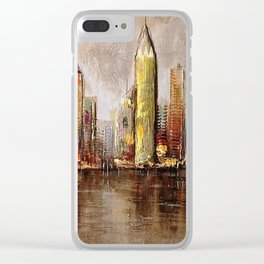 Skycrapers With Water View Clear iPhone Case