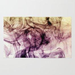 Beautiful Purple Brown Smoky Dust Rug