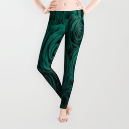 emerald green roses Leggings