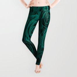emerald green roses Leggings