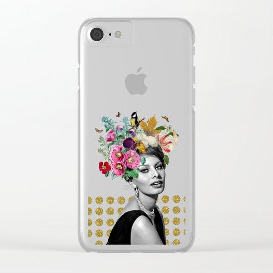 SOPHIA LOREN  Clear iPhone Case