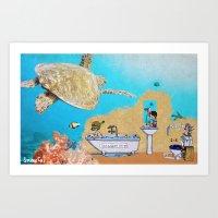 Little Submariners Art Print