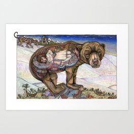 Portrait of a Young Girl living a day of her life in the Belly of the Beast Art Print