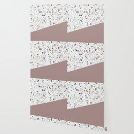 Terrazzo Texture Antique Pink #6 Wallpaper