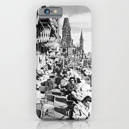 retro monochrome Berlin retro poster iPhone Case