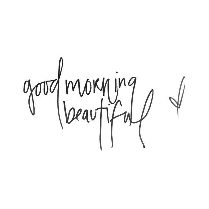 good morning beautiful Duvet Cover
