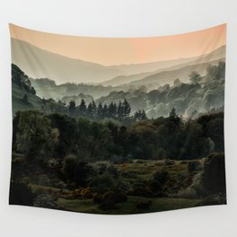 Foggy morning in Lake District Wall Tapestry