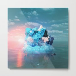ONE ON ONE WITH THE LAST ICEBERG - ∀ Metal Print