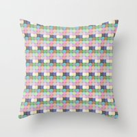 stained glass Throw Pillows featuring Stained Glass by Ana Guillén Fernández