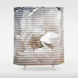 A tulip touching the stripes - Tulipa Angélique Shower Curtain