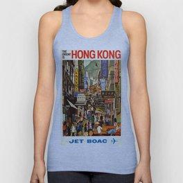 Vintage poster - Hong Kong Unisex Tank Top