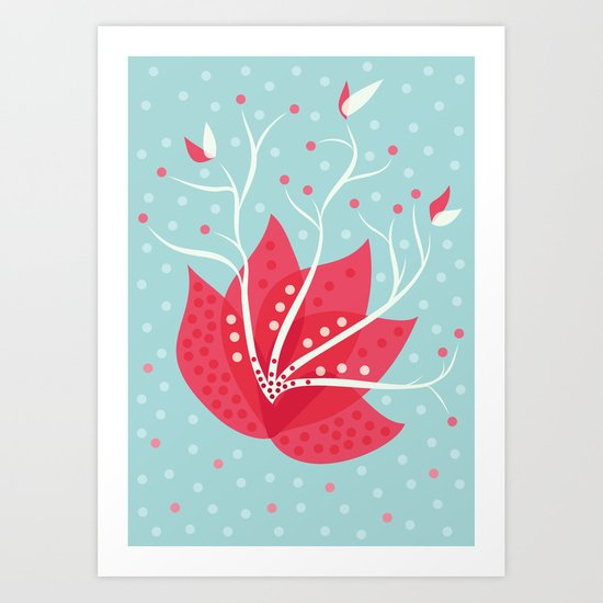 Exotic Winter Flower Art Print