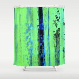 Urban Rain IV Painterly Abstract - Corbin Henry Modern Art Shower Curtain
