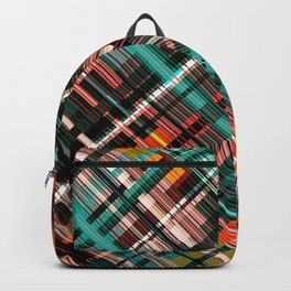 Lines, lines, lines....love them! Colorful tartan pattern Backpack