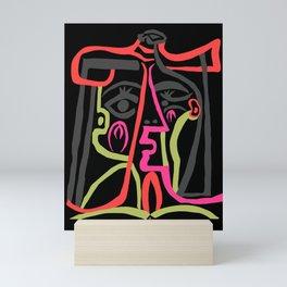 Picasso - Neon Colors Mini Art Print