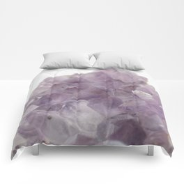 Amethyst Gemstone #1 #decor #art #society6 Comforters