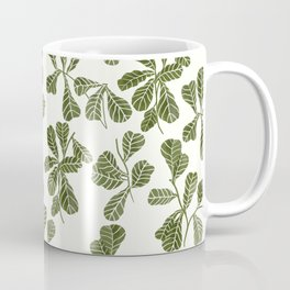 Fig Leaf Pattern Coffee Mug