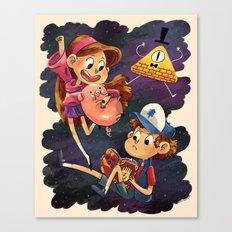 Mystery Twins Canvas Print