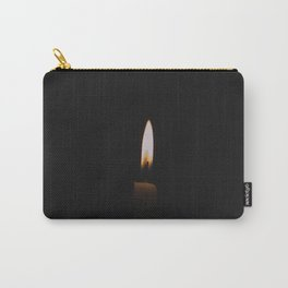 Flickering Candle in Darkness Carry-All Pouch