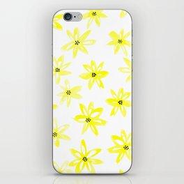 Yellow daisy flowers iPhone Skin