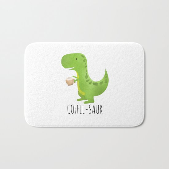 Coffee-saur Bath Mat