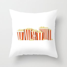 Movies and Popcorn Throw Pillow