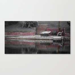 across red Canvas Print