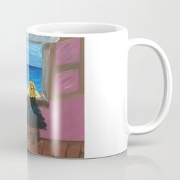 Woman at the Window at Figueres Coffee Mug