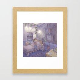 Little Borrower Framed Art Print